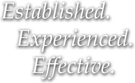 Established. Experienced. Effective.